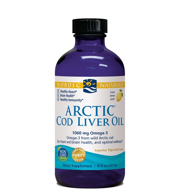 Arctic Cod Liver Oil Liquid - Lemon