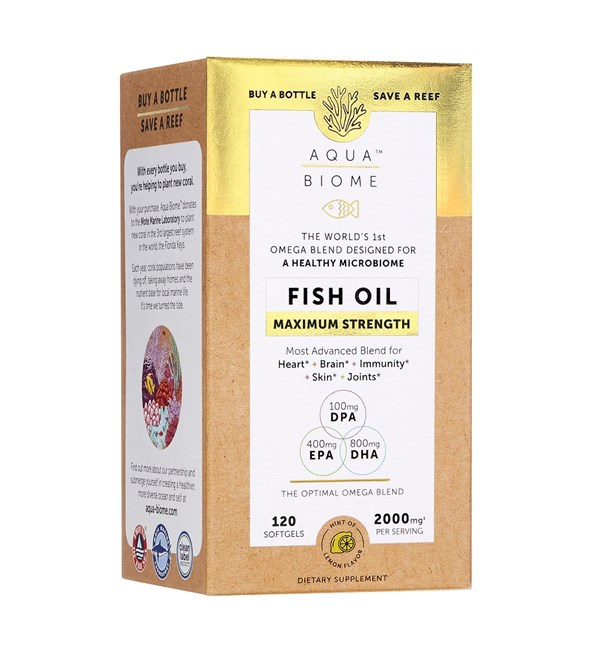 Aqua Biome Fish Oil Maximum Strength