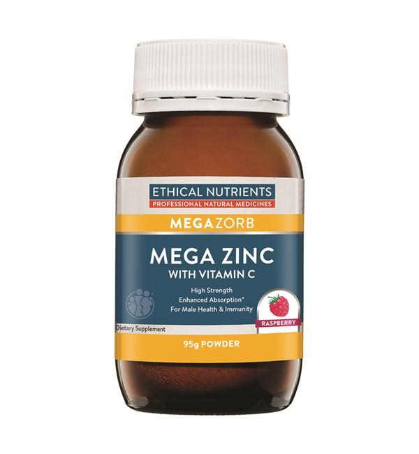 Mega Zinc with Vitamin C - Raspberry