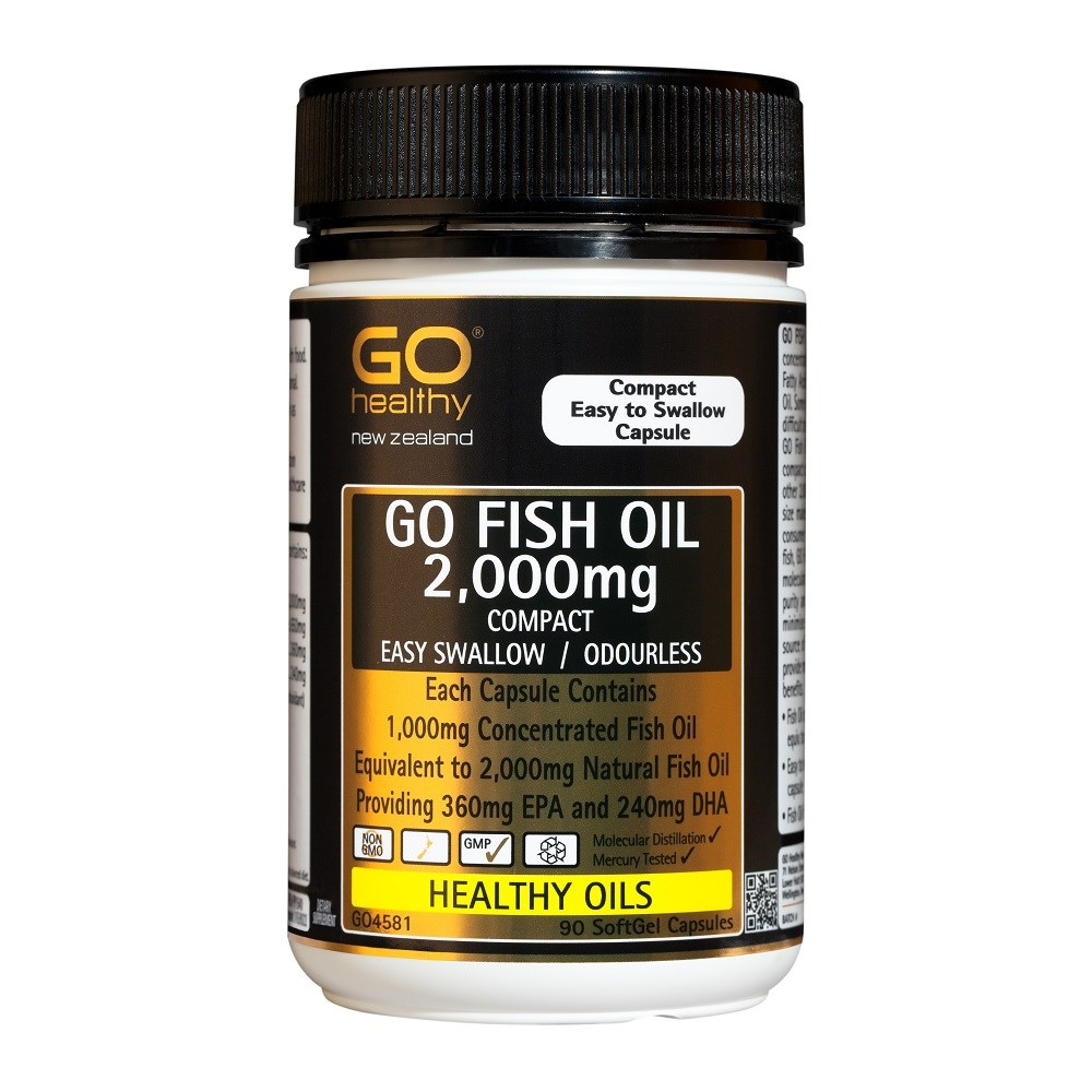Go healthy fish oil omega 3 heart joint health nz for Is fish oil good for your hair