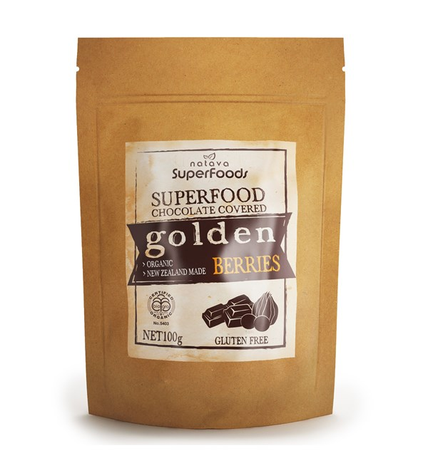 Superfood Chocolate Covered Golden Berries