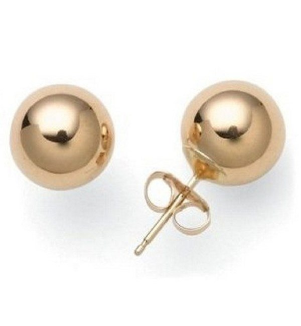 Ball Stud Earring Rose Gold and Stainless Steel