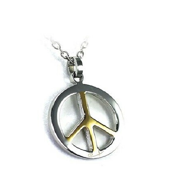 Peace Sign Pendant and Chain