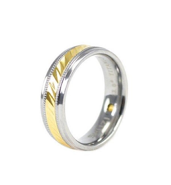 Twist Band Titanium and Gold
