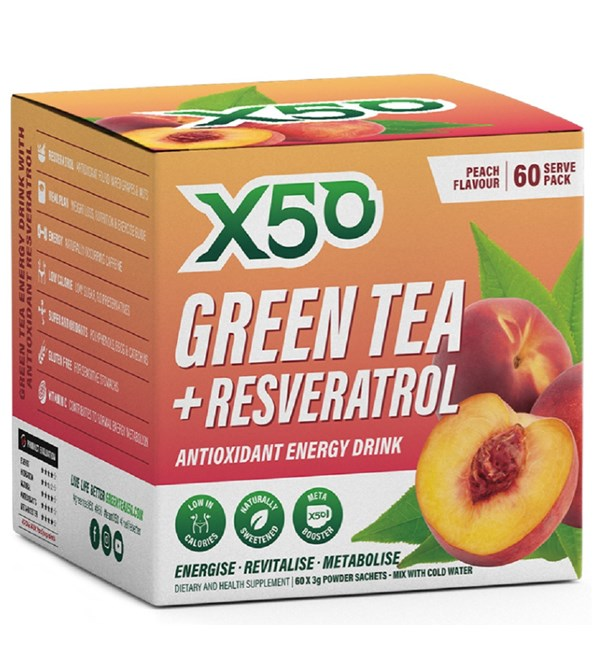 Green Tea + Resveratrol - Peach