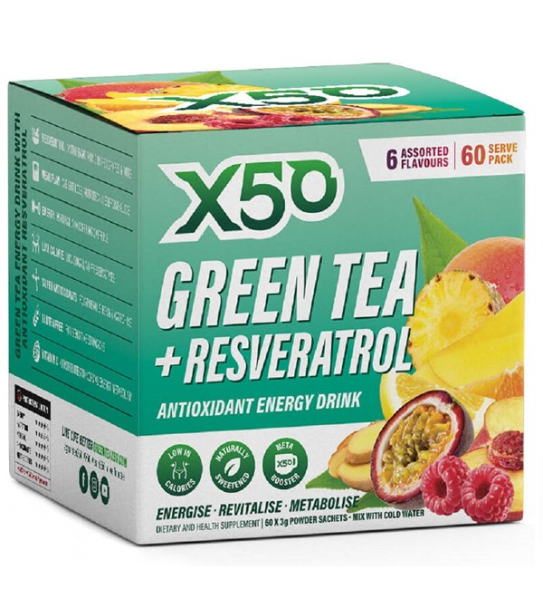 Green Tea + Resveratrol - Assorted Flavours