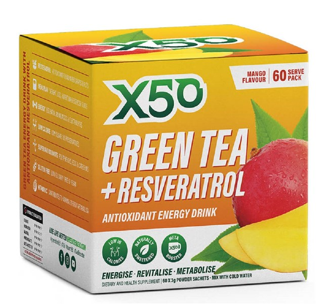 Green Tea + Resveratrol - Mango