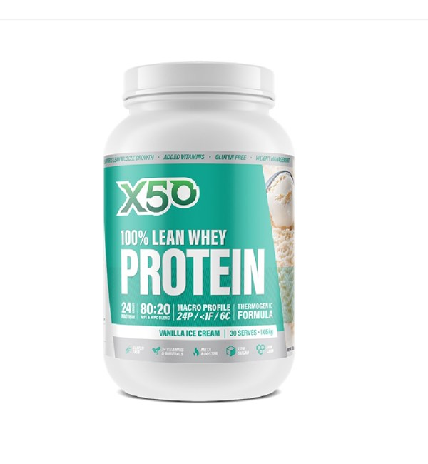 100% Lean Whey Protein Vanilla Icecream