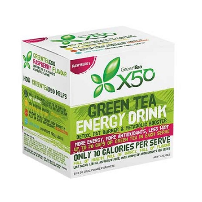 Green Tea Energy Drink - Raspberry