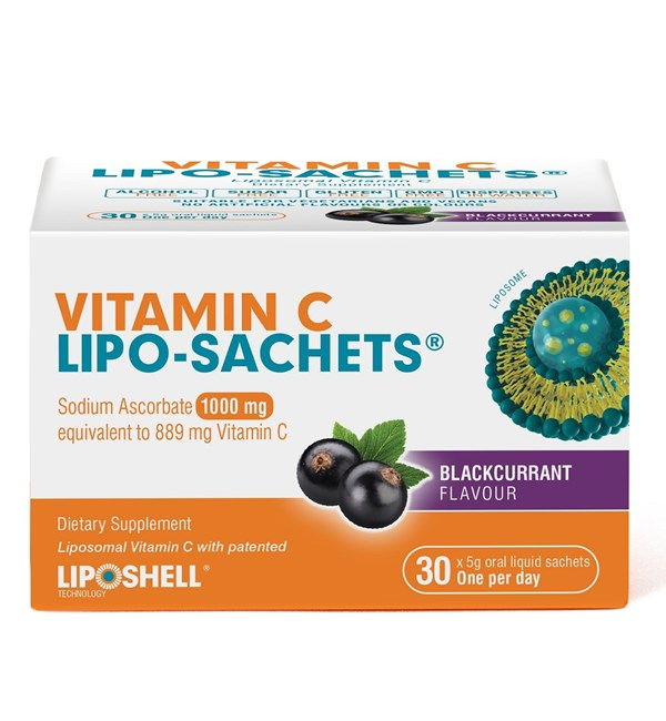 Vitamin C Lipo-Sachet Blackcurrant 1000mg