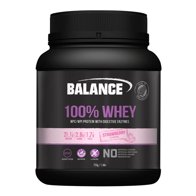 100% Whey Natural Strawberry