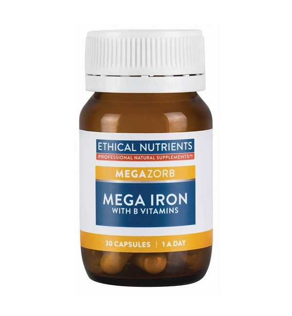 MegaZorb Mega Iron with B Vitamins 1-A-Day
