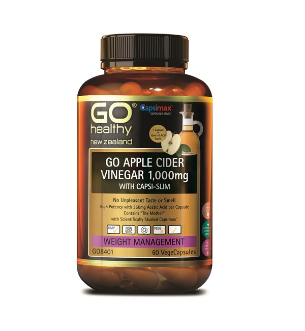 GO Apple Cider Vinegar 1,000mg with Capsi-Slim