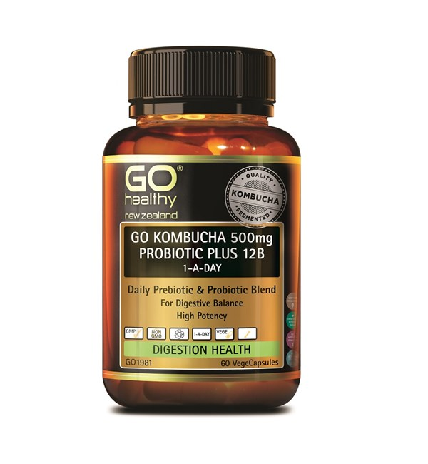 GO Kombucha 500mg Probiotic Plus 12B