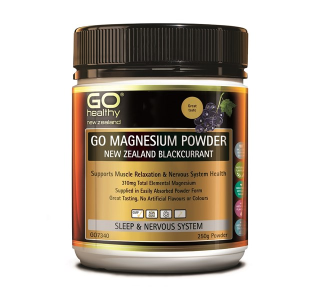 GO Magnesium Powder - New Zealand Blackcurrant