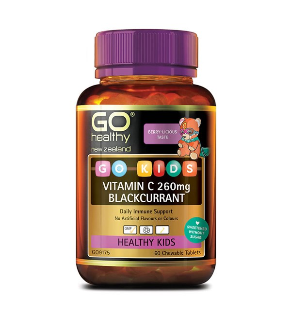 GO Kids Vitamin C 260mg Blackcurrant