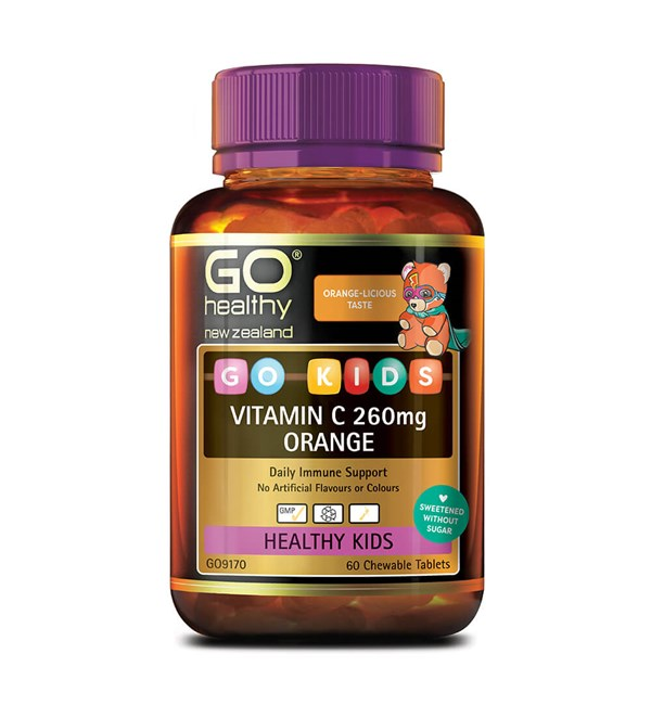 GO Kids Vitamin C 260mg Orange