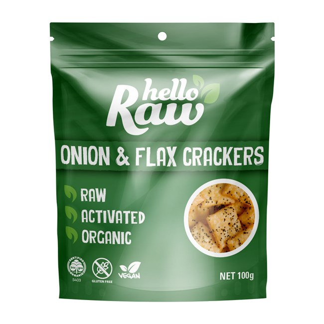 Onion and Flax Crackers