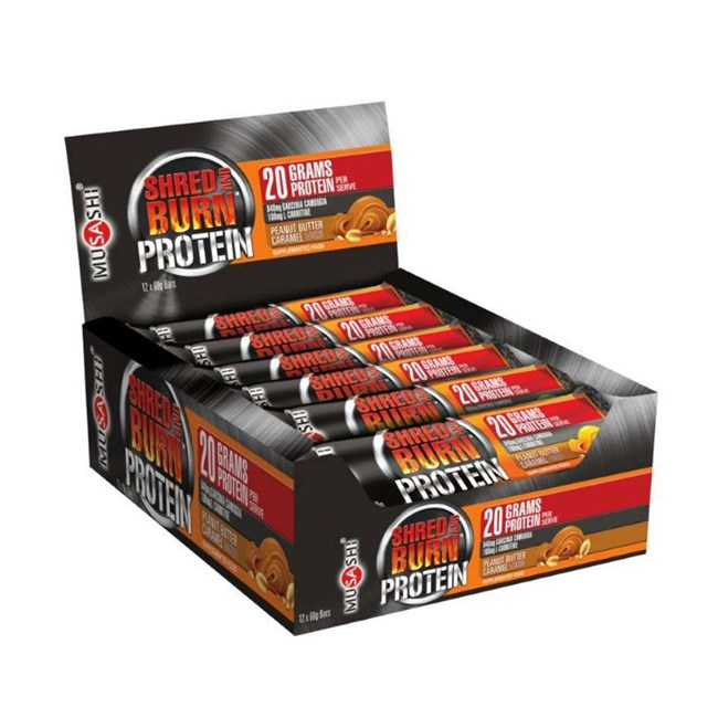 Shred and Burn Protein Bar - Peanut Butter Caramel