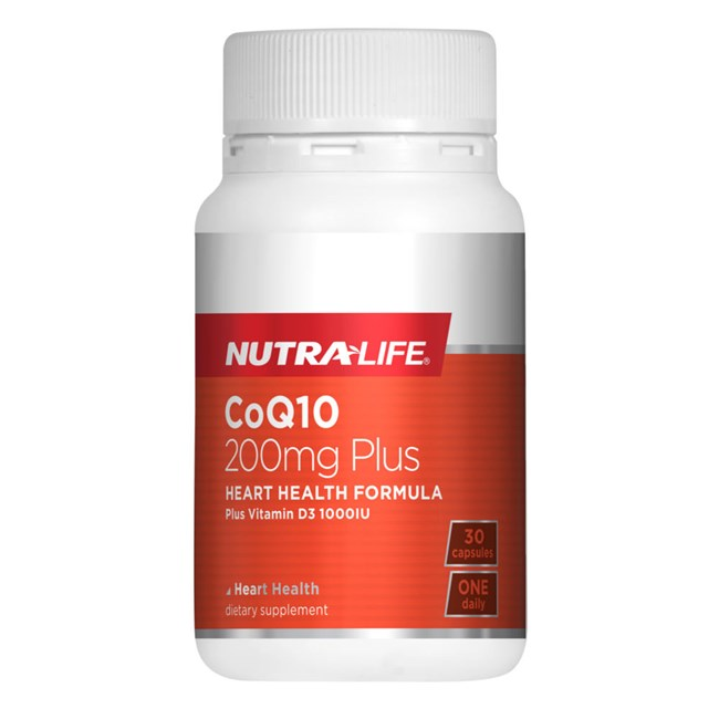 CoQ10 200mg Plus Vitamin D3 1,000IU
