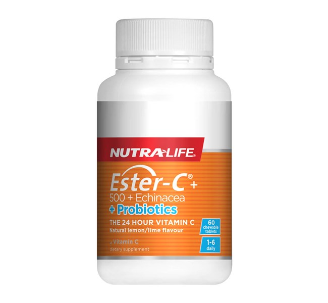 Ester-C 500mg with Echinacea + Probiotics