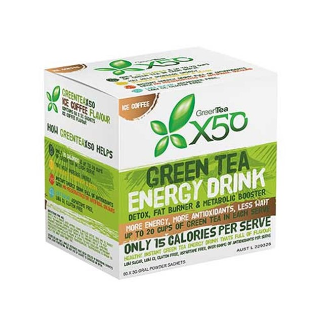 Green Tea Energy Drink-  Iced Coffee