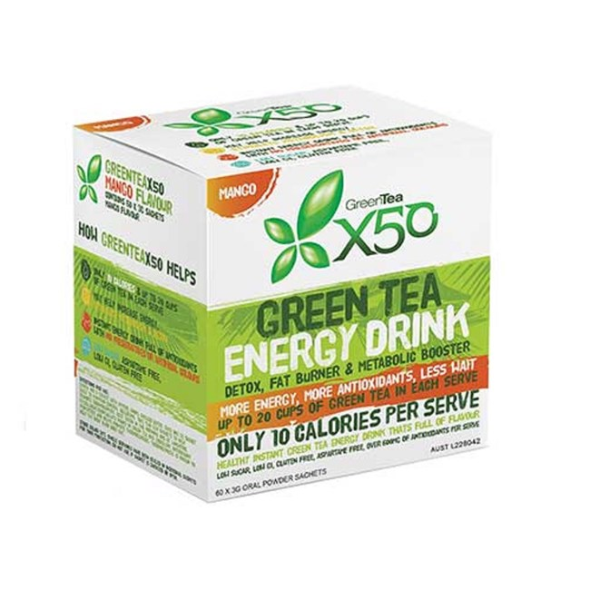 Green Tea Energy Drink - Mango