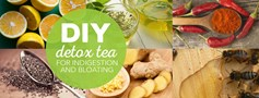 DIY detox tea for indigestion and bloating